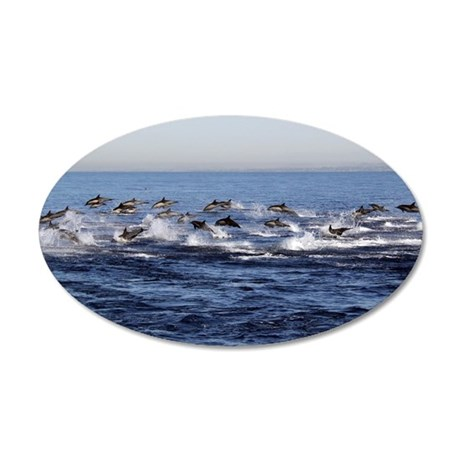 Dolphin Stampede Wall Decal
