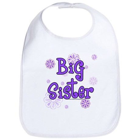purple big sister Bib