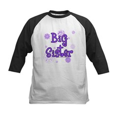 purple big sister Kids Baseball Jersey