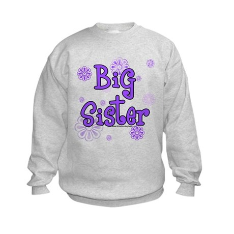 purple big sister Kids Sweatshirt