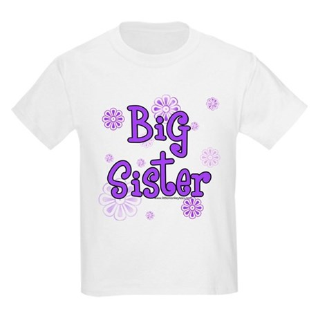 purple big sister Kids Light T-Shirt