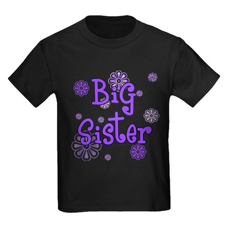 purple big sister  Kids Dark T-Shirt