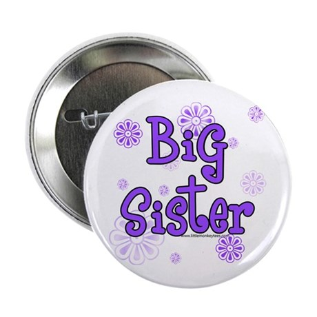 purple big sister Button