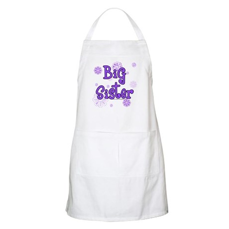 purple big sister  BBQ Apron