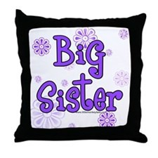 purple big sister  Throw Pillow