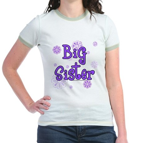 purple big sister Jr. Ringer T-Shirt