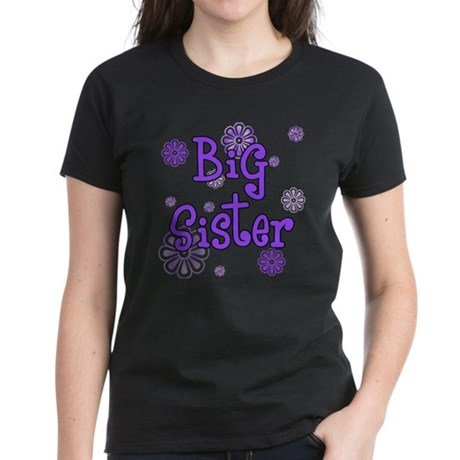 purple big sister Women's Dark T-Shirt