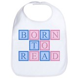 Born to Read Blocks Bib