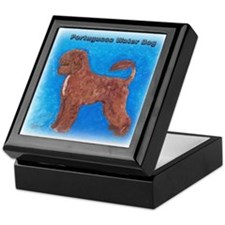 Brown Portuguese Water Dog Keepsake Box
