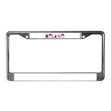 Unique Melany License Plate Frame