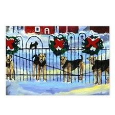 Christmas Airedale terrier Postcards