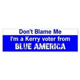 Kerry Voter from Blue America Bumper Bumper Sticker