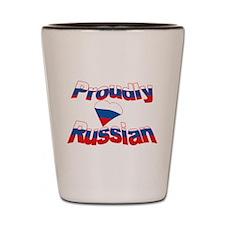 Proud to be Russian Shot Glass