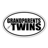 GRANDPARENTS of TWINS Oval Decal