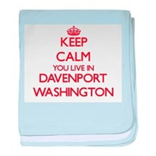 Keep calm you live in Davenport Washi baby blanket