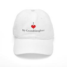 I Love (Heart) My Granddaught Baseball Cap