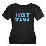 Hot Mama Women's Plus Size Scoop Neck Dark T-Shirt