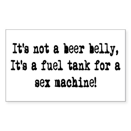 beer belly Rectangle Sticker