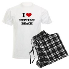 I Love Neptune Beach Pajamas