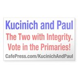 Kucinich and Paul Rectangle Decal
