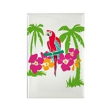 Resden Pretty Parrot Rectangle Magnet