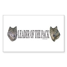 Leader of the pack Rectangle Decal