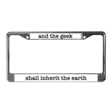 The geek shall inherit the earth: Lic. Plate Frame