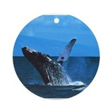 Humpback Whale Ornament (Round)