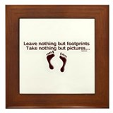 Leave nothing Framed Tile
