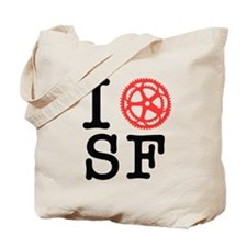 I Bike SF Tote Bag