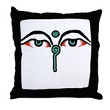 Cute Namaste Throw Pillow