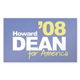 HOWARD DEAN '08 - 2008 Sticker (Rect.)