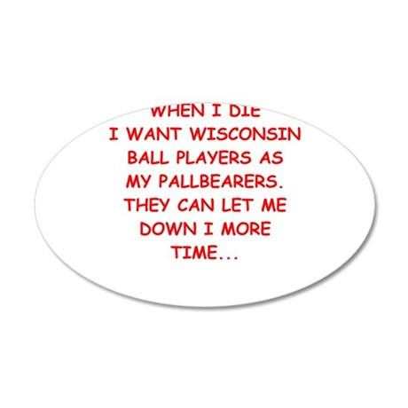 wisconsin sports Wall Decal