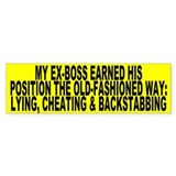 BACKSTABBING - Bumper Bumper Sticker