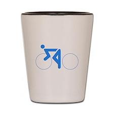 Blue Cycling Shot Glass