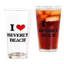 I Love Beverly Beach Drinking Glass