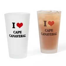 I Love Cape Canaveral Drinking Glass