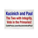 Kucinich and Paul Rectangle Magnet