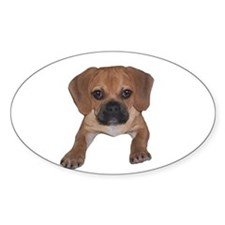 Just puggle Oval Decal