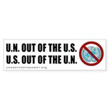 &quot;US out of the UN&quot; Bumper Bumper Sticker