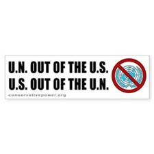 """US out of the UN"" Bumper Bumper Sticker"