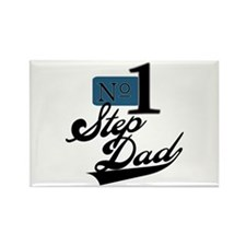 Number One StepDad Rectangle Magnet