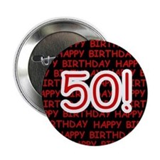 Happy 50th Birthday Button