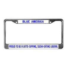 Blue America License Plate Frame
