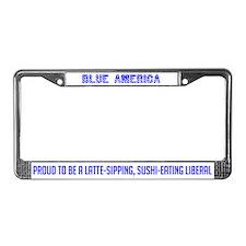 Blue America License Plate Frame