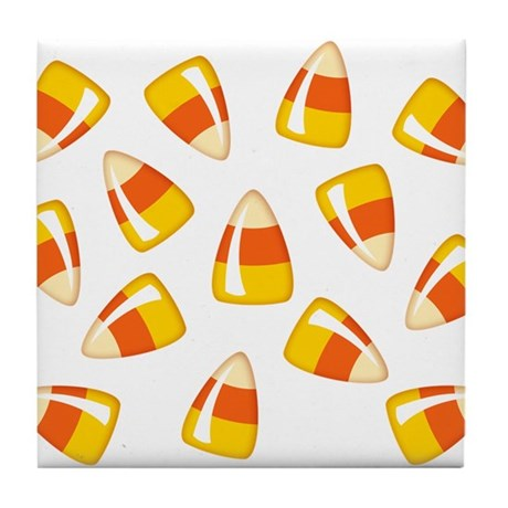 Candy Corn Tile Coaster