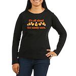 Candy Corn Women's Long Sleeve Dark T-Shirt