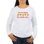 Candy Corn Women's Long Sleeve T-Shirt