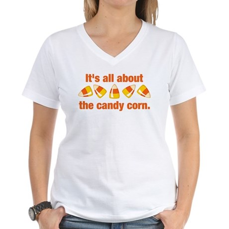 Candy Corn Women's V-Neck T-Shirt