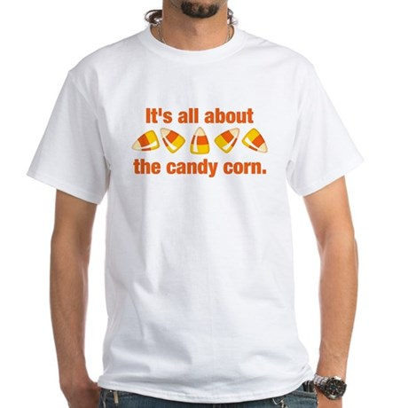 Candy Corn White T-Shirt